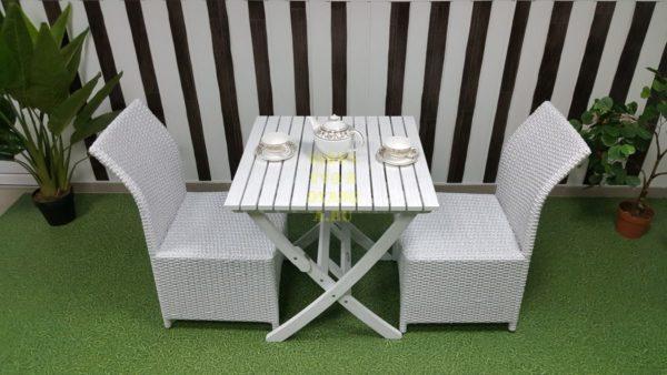 Фото-Комплект садовой мебели Arizona 2 white