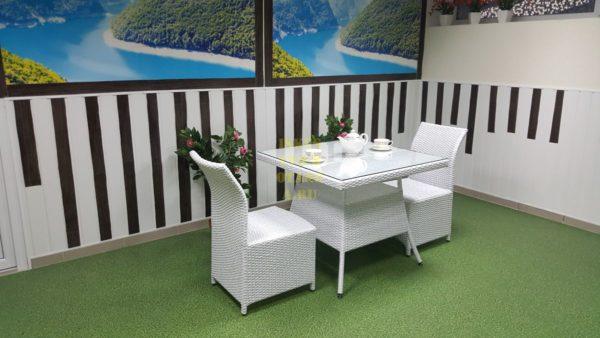 Фото-Rose 2 white плетеная мебель