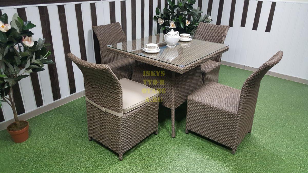 Фото-Rose 4 beige плетеная мебель