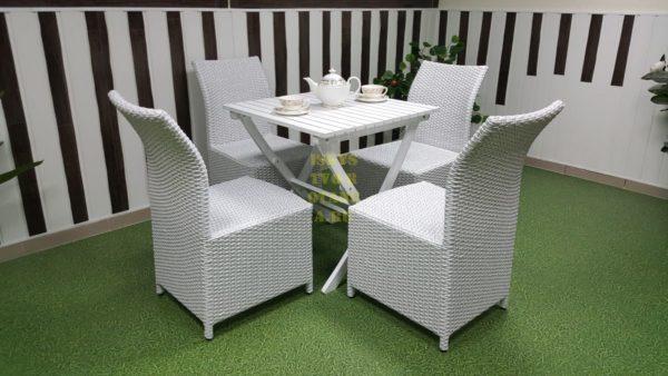 Фото-Садовая мебель Arizona 4 white