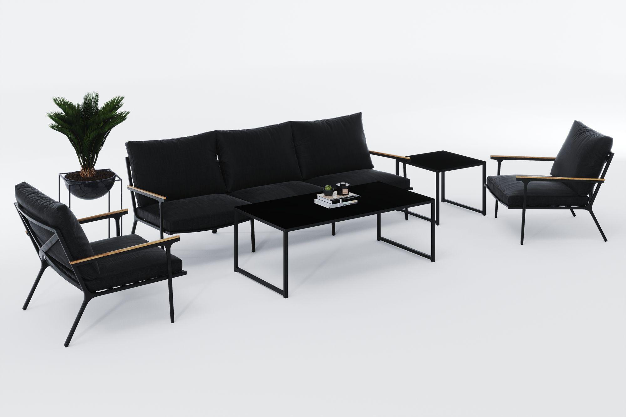 Фото-Садовая мебель из алюминия CALMA LONG