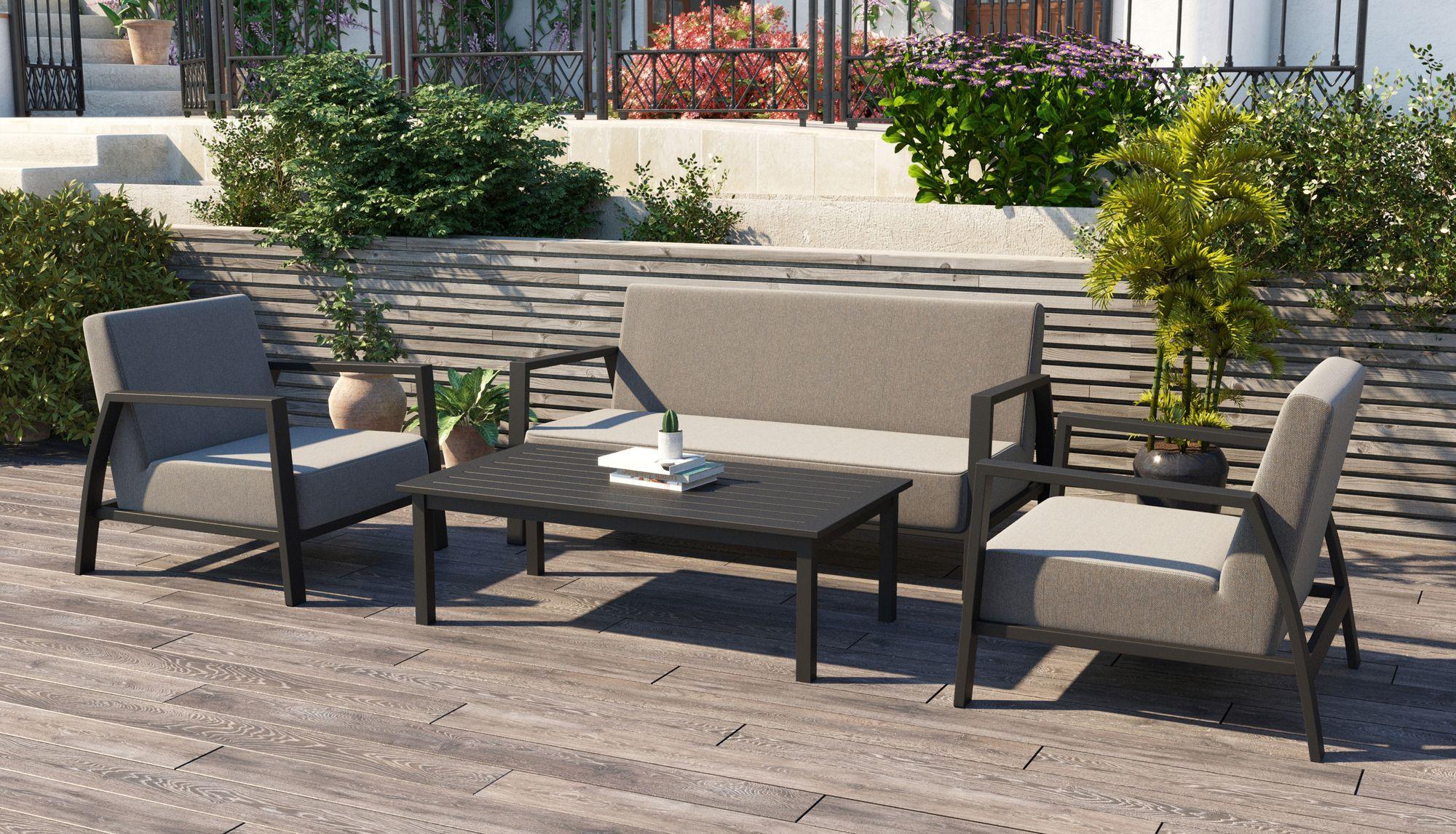 Фото-Садовая мебель из алюминия CLASSICO лаунж зона