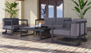 Фото-Садовая мебель из алюминия VILLINO black