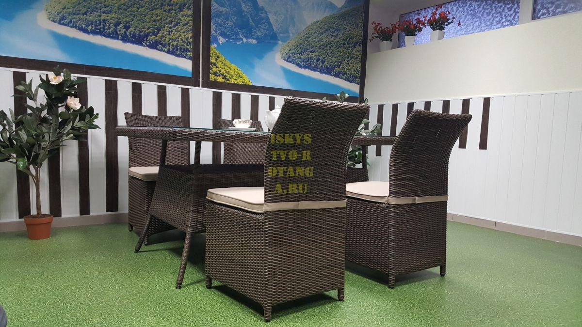 Фото-Садовая плетеная мебель Rose royal brown 4