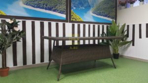 Фото-Samurai brown 160 Стол плетеный SunlineDesign