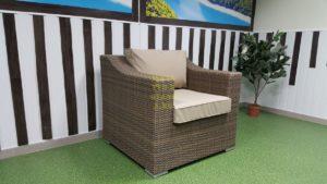 Фото-Кресло плетеное Glendon royal beige