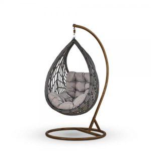 "Фото-Подвесное кресло ""Angelica"" dark grey"