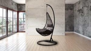 Фото-Подвесное кресло VOLO black / Gardenini