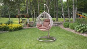 Фото-Подвесное плетеное кресло MOTI WHITE