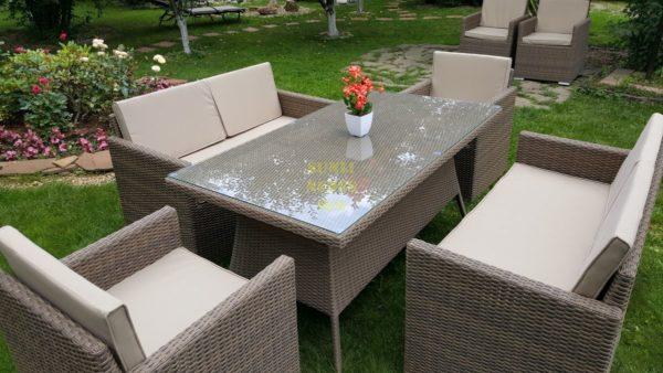 """Фото-Искусственный ротанг мебель """"Infinity & Samurai"""" dining patio set"""
