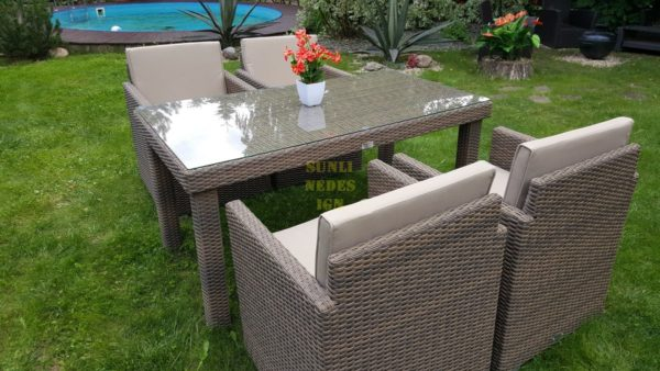 Фото-Искусственный ротанг мебель Infinity 160 cuatro beige