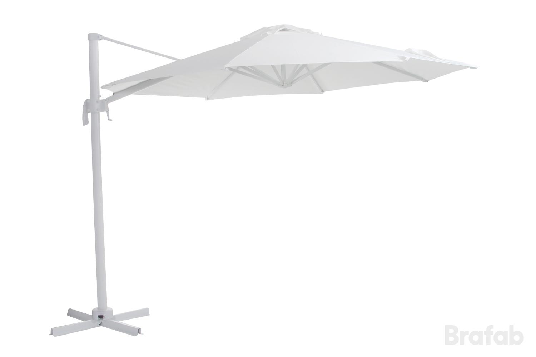 """Зонт садовый на боковой опоре """"Linz"""" D300 белый Brafab"""