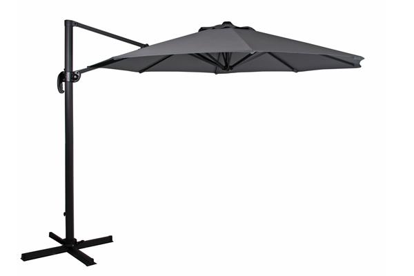 """Зонт садовый на боковой опоре """"Linz"""" 300х300 антрацит Brafab"""