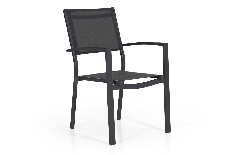 """Кресло из текстилена """"Leone"""" черный/серый"""