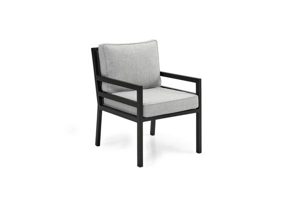"""Кресло садовое из алюминия """"Bergerac"""" black Brafab"""