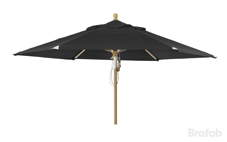 """Зонт садовый """"Parma"""" D350 черный Brafab"""