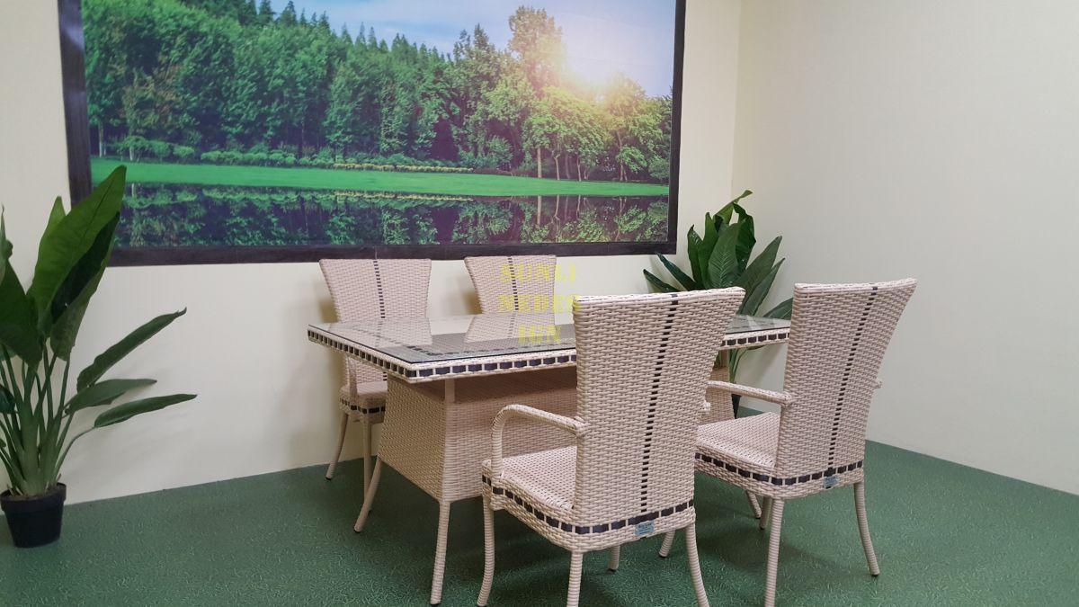"Плетеная мебель ""Aura"" beige 4 +160"