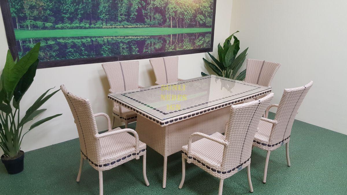 "Плетеная мебель ""Aura"" beige 6"