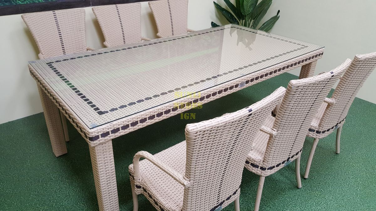 """Плетеная мебель """"Aurora"""" beige 6"""