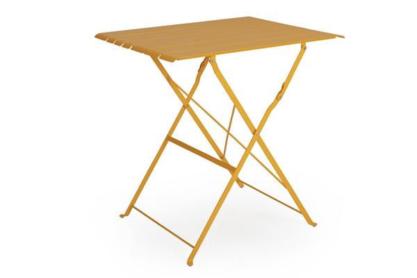 """Стол садовый кофейный """"BRADANO"""" желтый Brafab"""