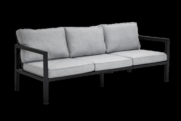 фото-Belfort black диван трехместный