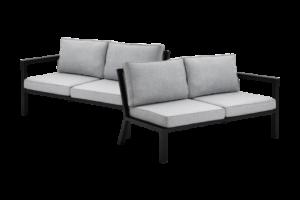 фото-Belfort black садовый диван окончания