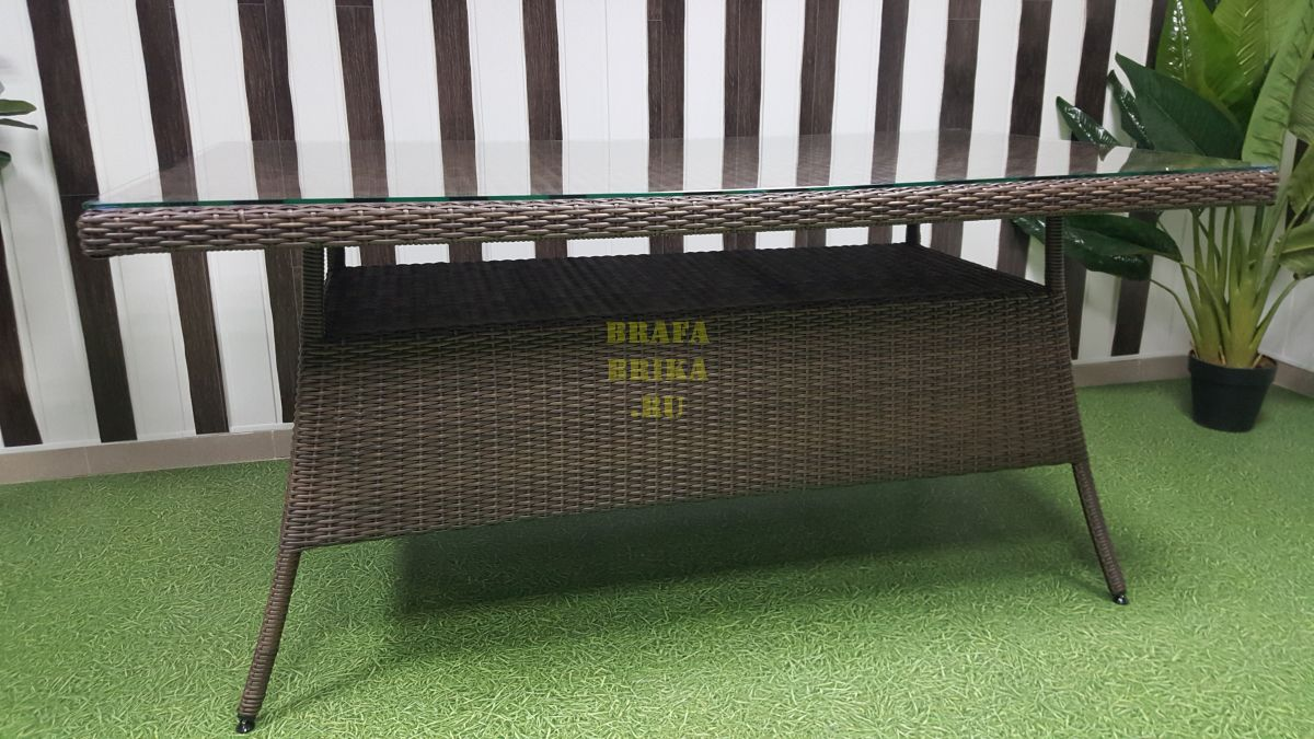 "Стол плетеный ""Samurai"" brown 160"
