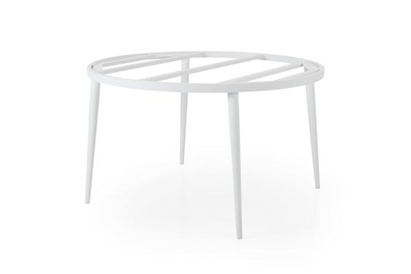 """Стол садовый алюминиевый """"Callander"""" D 130 white - подстолье"""