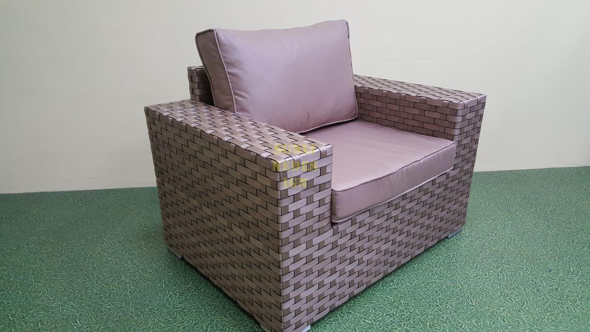 """Кресло из искусственного ротанга """"Cinzano"""" beige"""