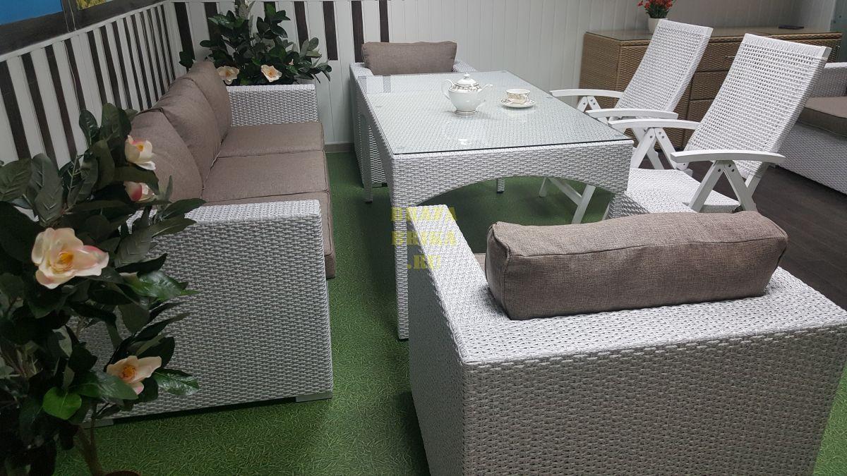 "Плетеная мебель ""Dream"" white&beige"