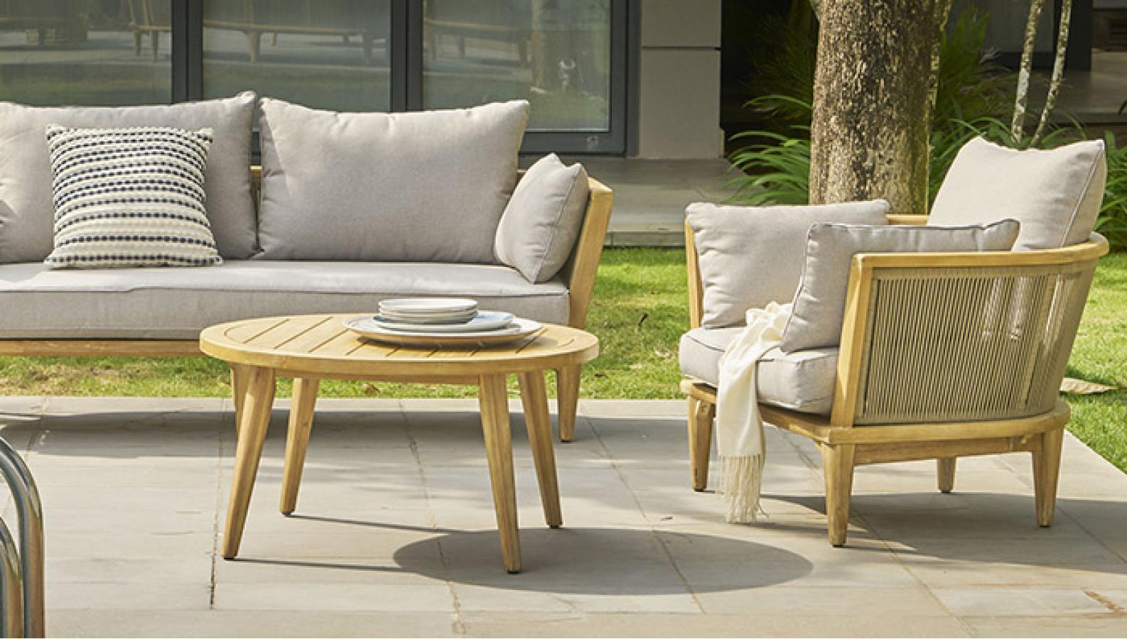 """Садовая мебель из акации """"Girona"""" lounge set"""