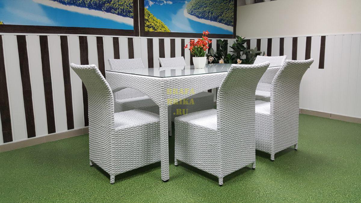 "Плетеная мебель ""Louisiana & Rose"" white"