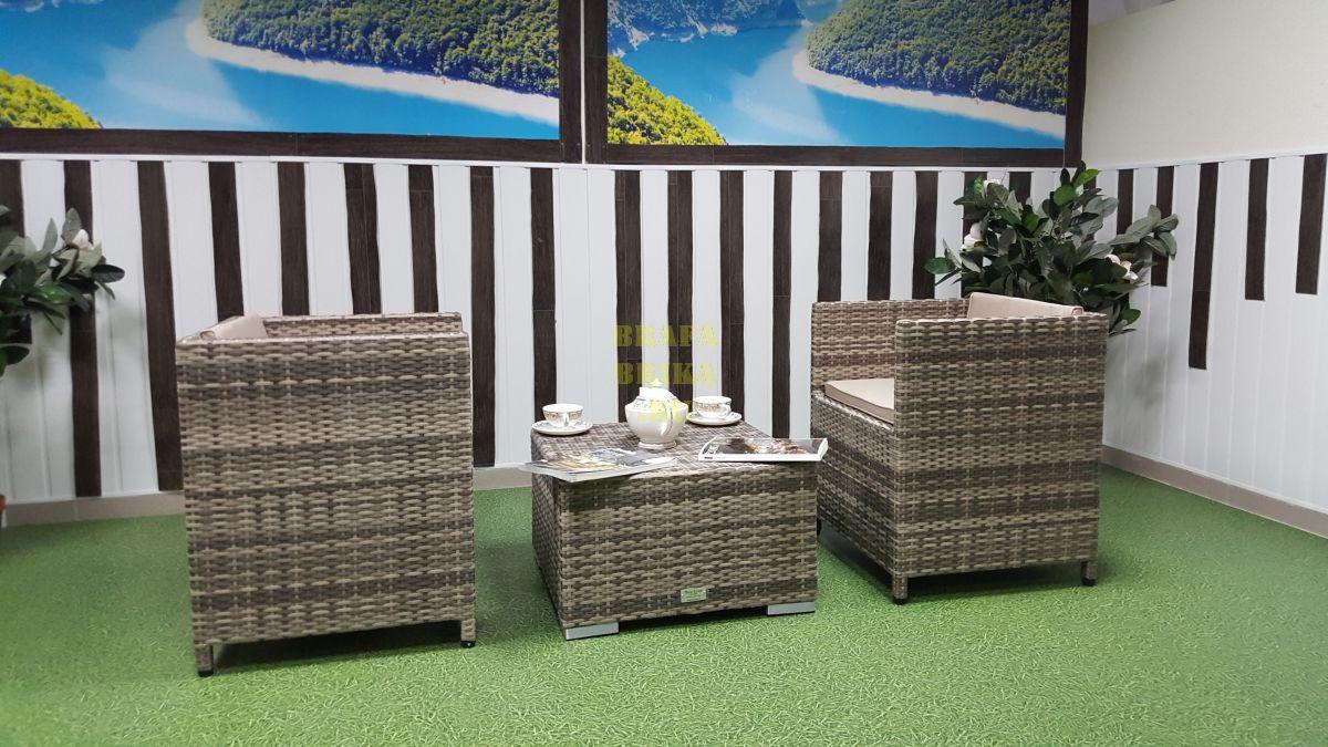 """Плетеная мебель """"Barbados"""" beige cafe set"""
