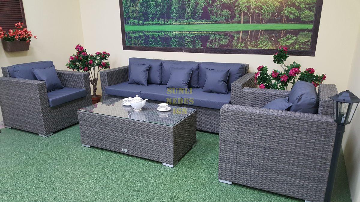 """Плетеная мебель """"Allegro"""" natur&grey set 2"""