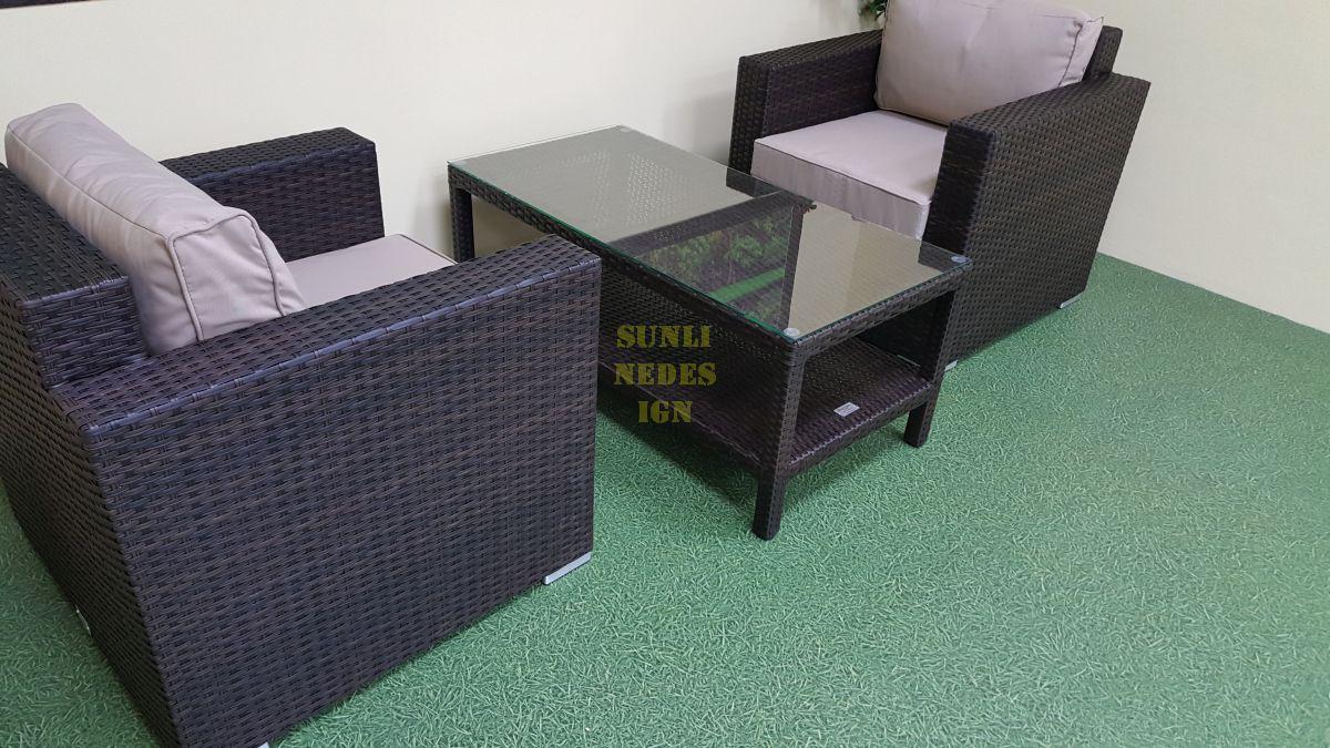 """Плетеная мебель """"Acoustic"""" cafe set"""