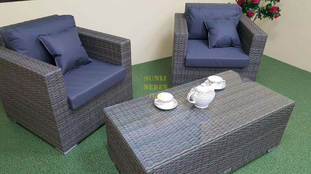 """Плетеная мебель """"Allegro"""" natur&grey cafe set"""