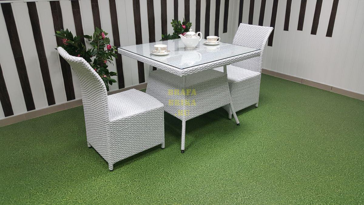 """Плетеная мебель """"Rose"""" 2 white"""