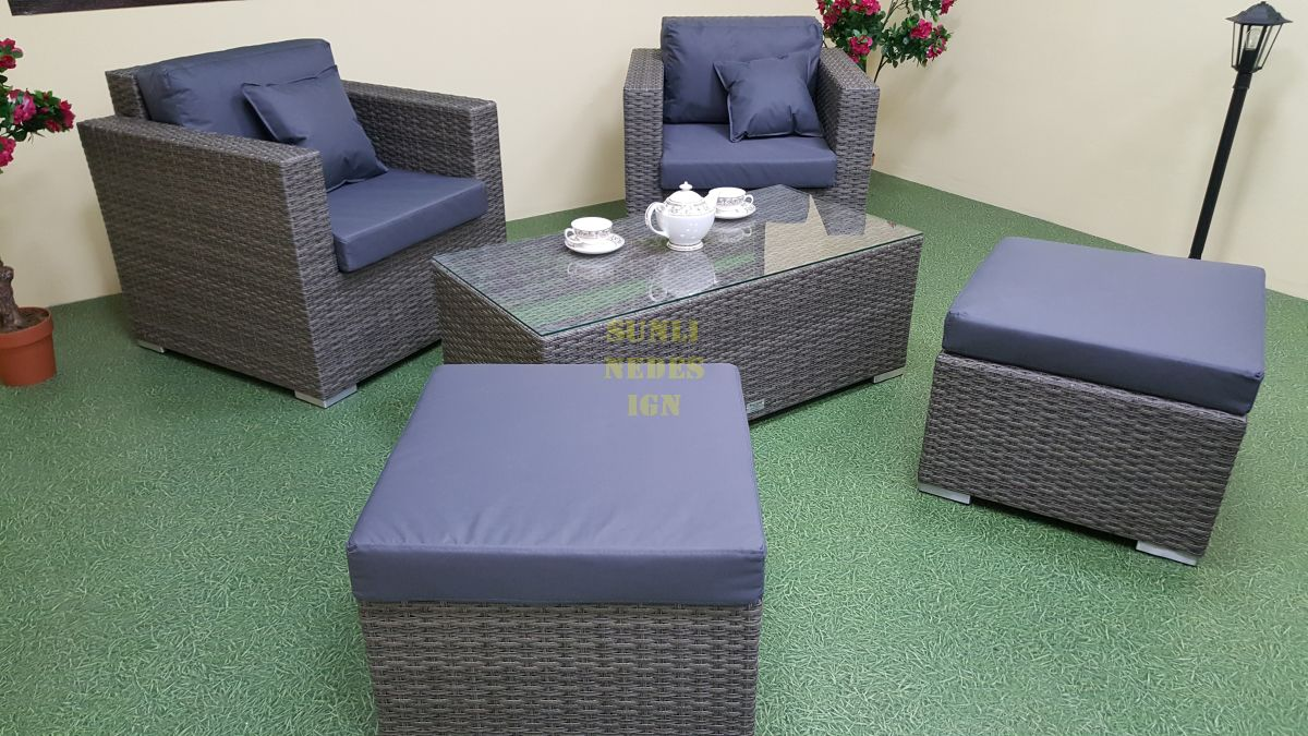"""Плетеная мебель """"Allegro"""" natur&grey balcony set"""