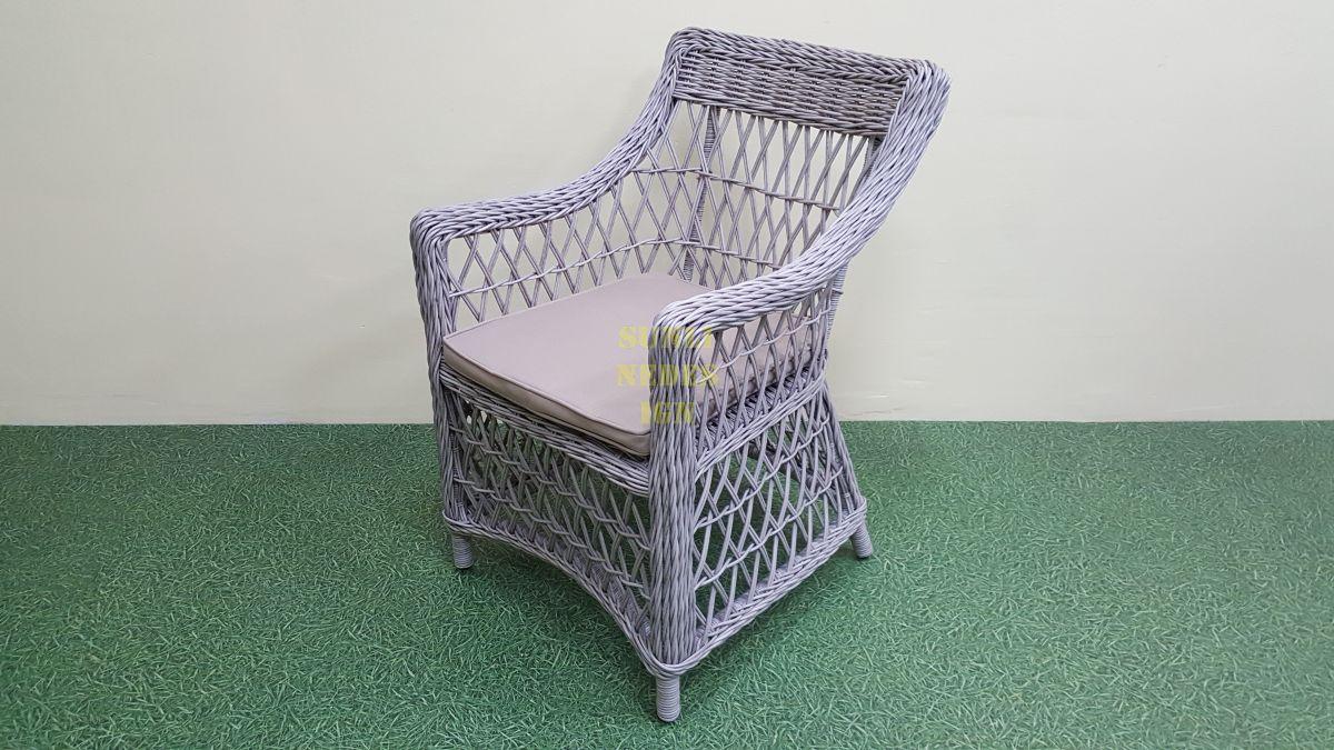 """Кресло плетеное """"Beatrix"""" grey"""