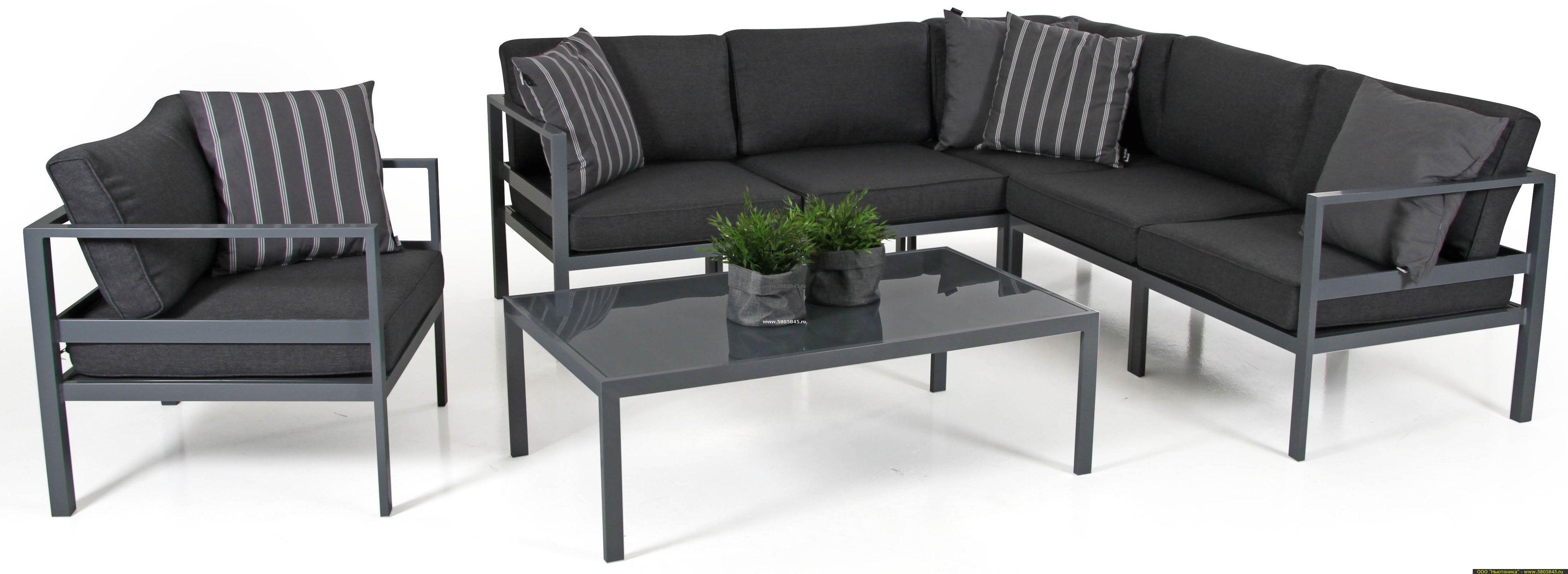 "Садовая мебель ""Leone"" lounge black"