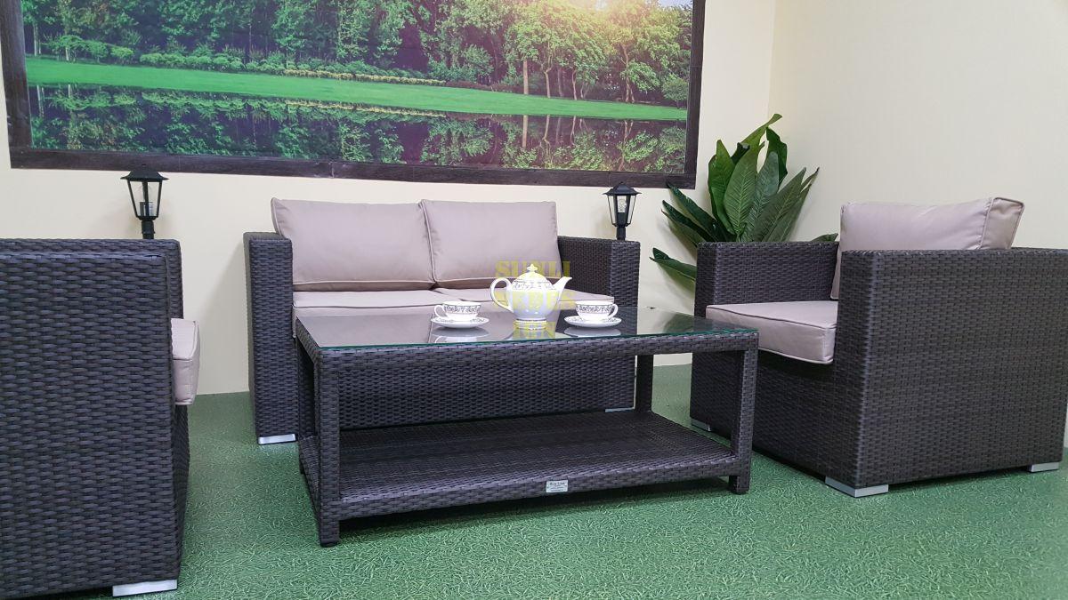 "Плетеная мебель ""Louisiana"" lounge brown"