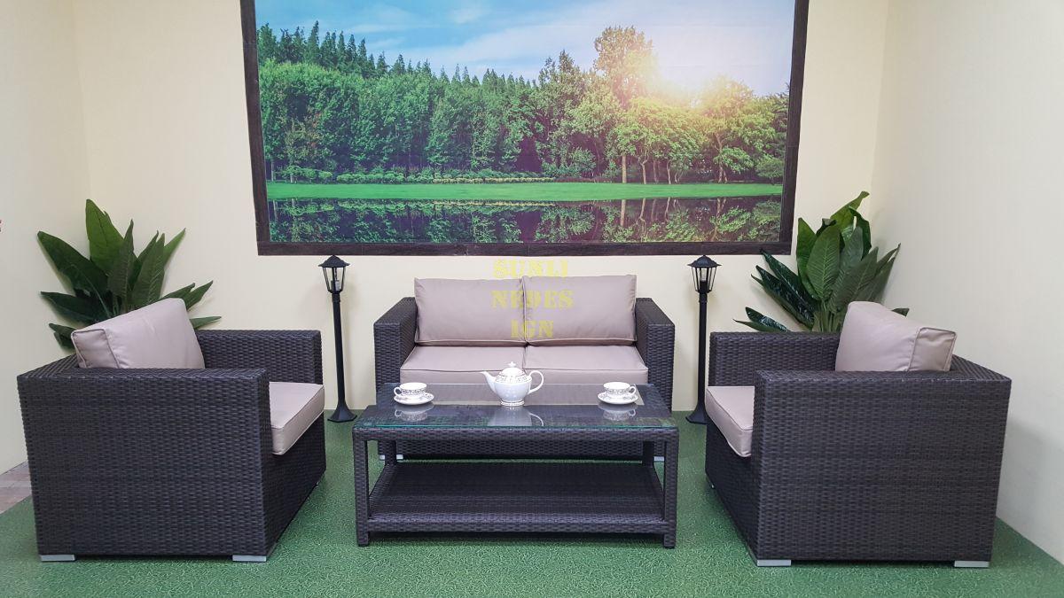 """Плетеная мебель """"Louisiana"""" cafe set brown"""