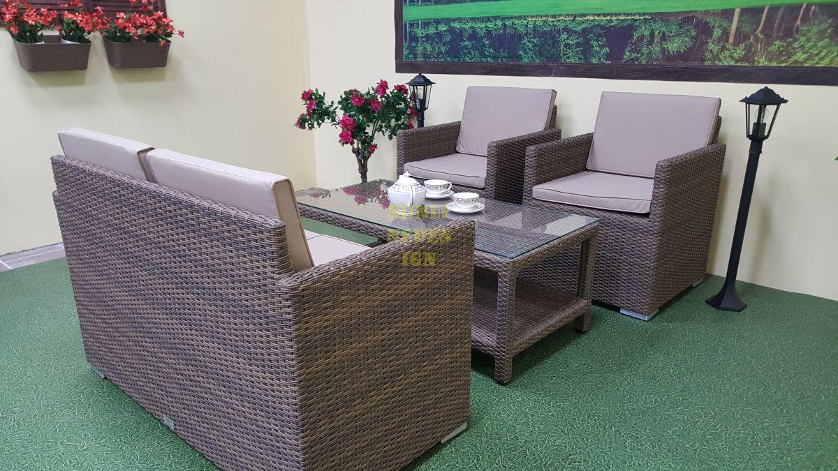"""Плетеная мебель """"Infinity"""" cafe set"""