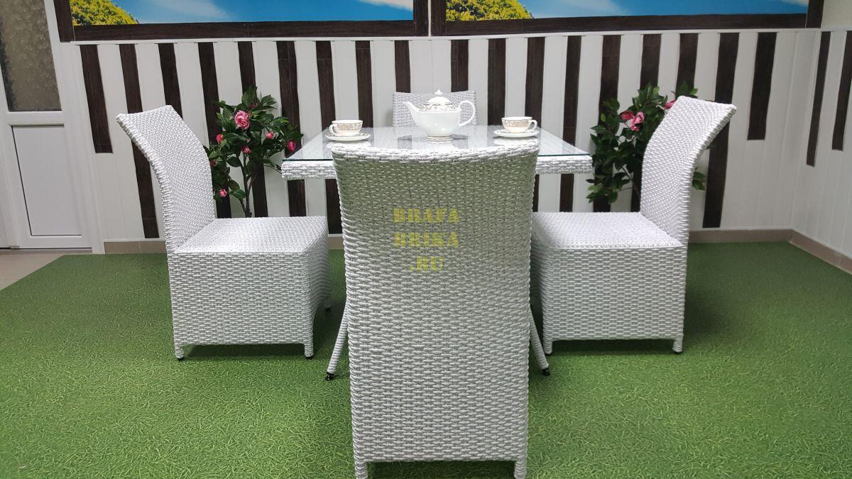 """Плетеная мебель """"Rose"""" 4 white"""