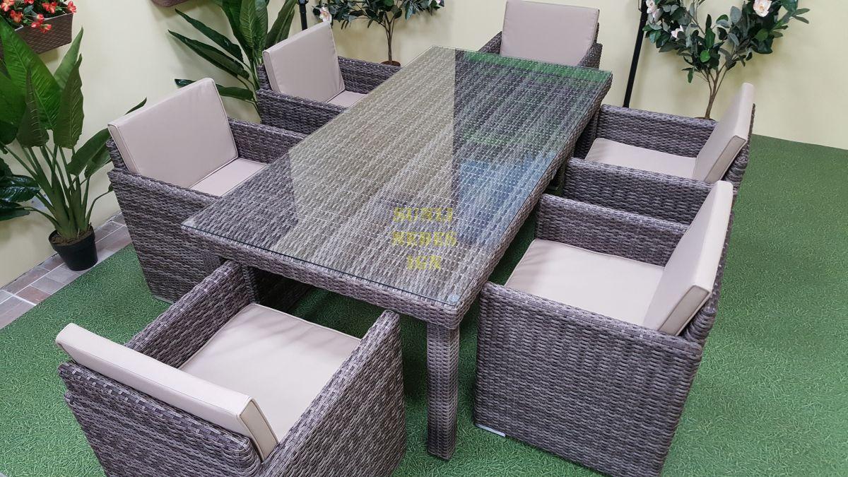 """Плетеная мебель """"Infinity"""" brown grey 6"""