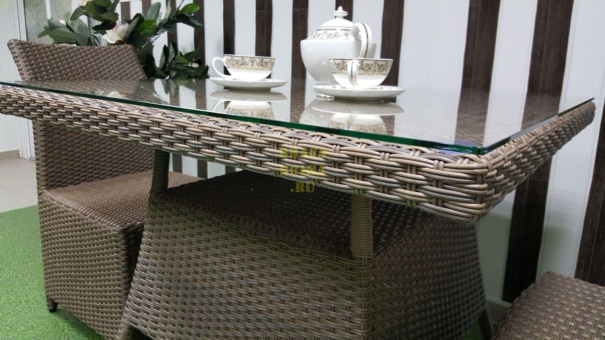 """Плетеная мебель """"Rose"""" 2 beige"""