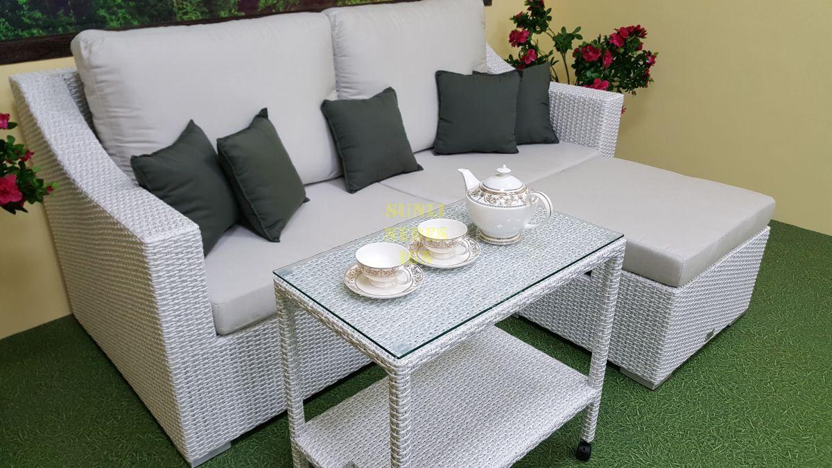 "Плетеная мебель ""Pegas"" white patio set"