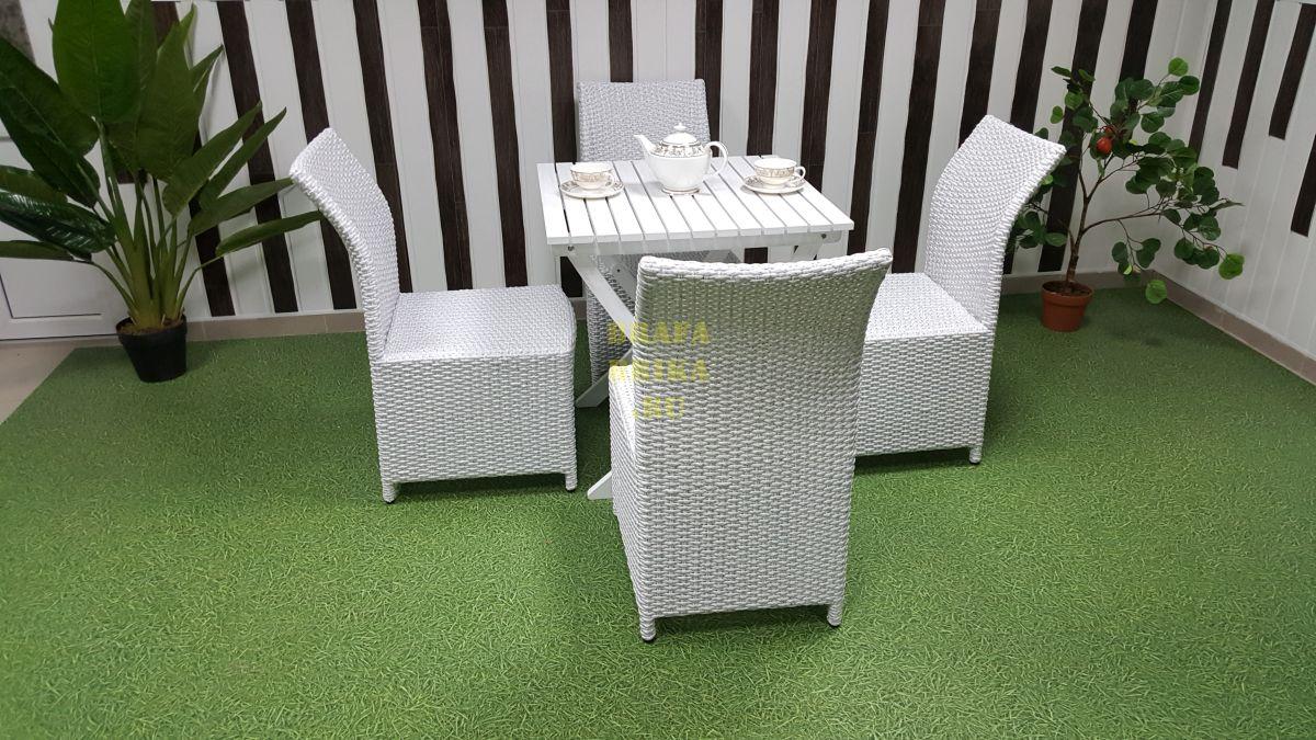 """Плетеная мебель """"Arizona"""" 4 white"""