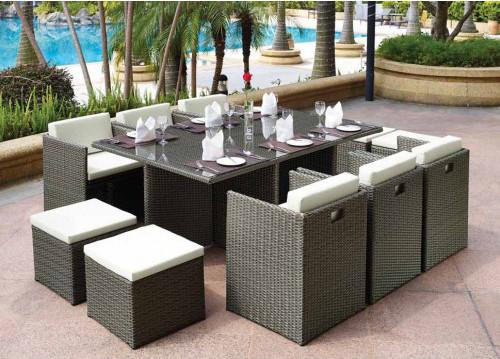 "Плетеная мебель ""Barbados"" 10 brown grey"