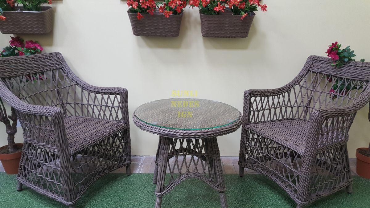 """Плетеная мебель """"Beatrix"""" beige cafe set"""